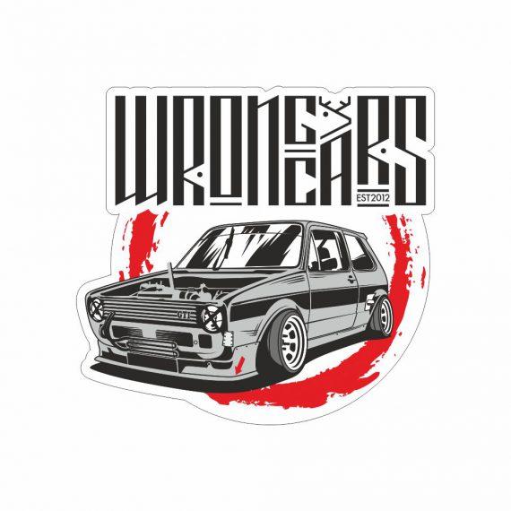 Наклейка Wrongcars Golf MK1